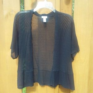 Chico's Open Weave Cardigan Size 1 (M/8)